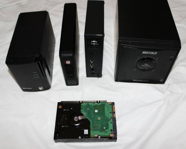 ハードディスク搭載の装置