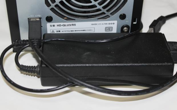 RAIDの電源コード