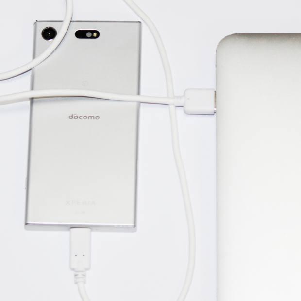 スマートフォンの同期接続