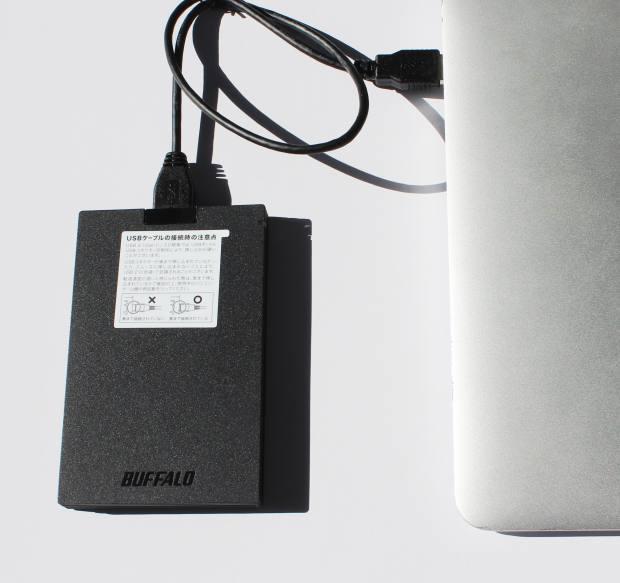 ポータブルSSDの接続