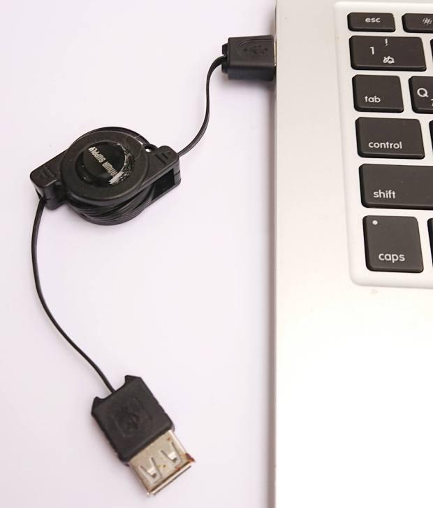 MacのパソコンへのUSB接続