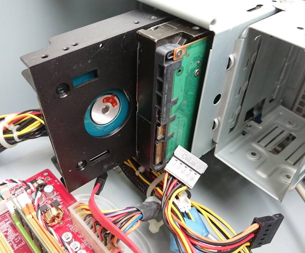ハードディスクの配置