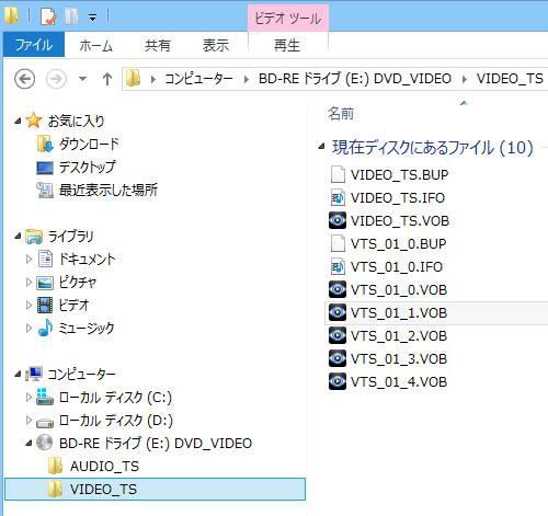 DVDのフォルダー