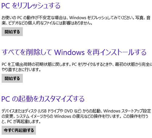 Windows8の設定