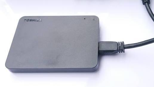 ポータブルHDDのUSB接続