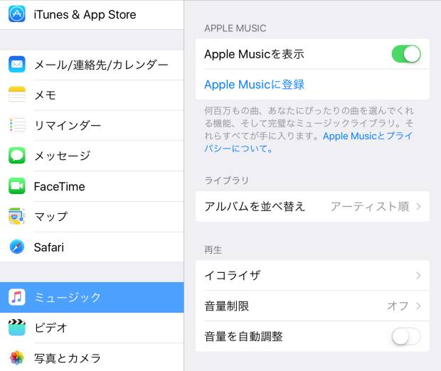iPadの画面