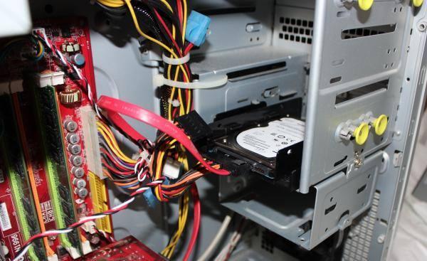 ハードディスクの接続