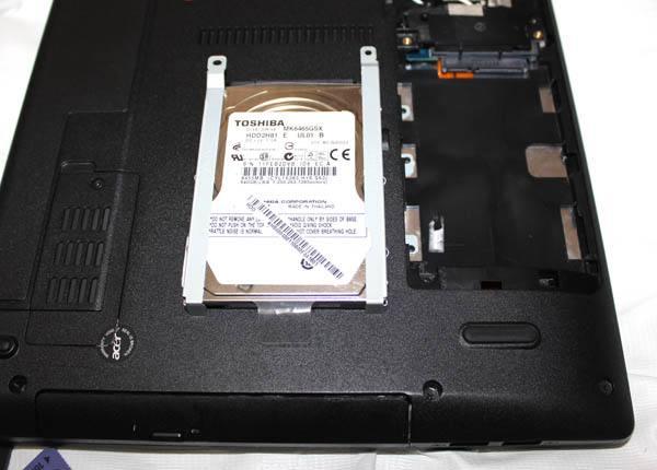 ノートパソコンのHD交換