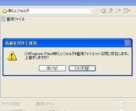 重複ファイル例