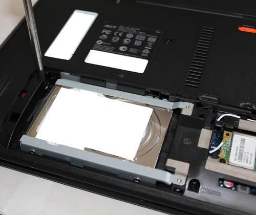 ノートPCに搭載されたHDD