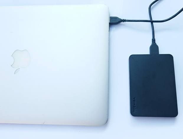 MacパソコンへのUSB接続