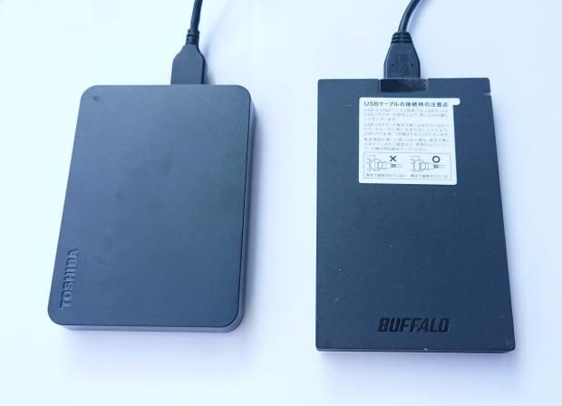 ポータブルHDDとポータブルSSD