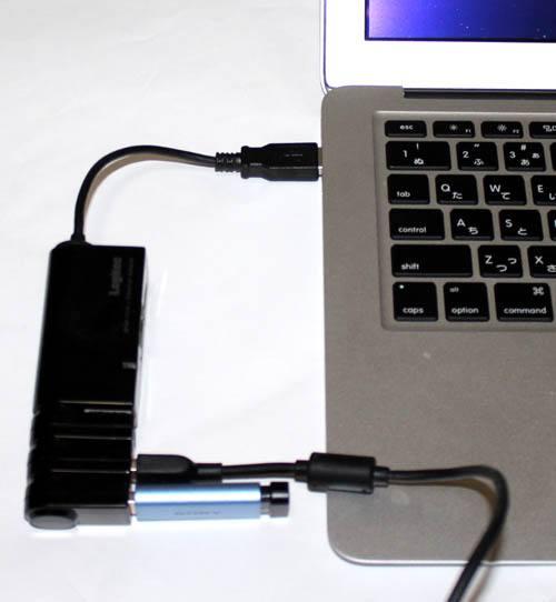 Mac対応USBハブ