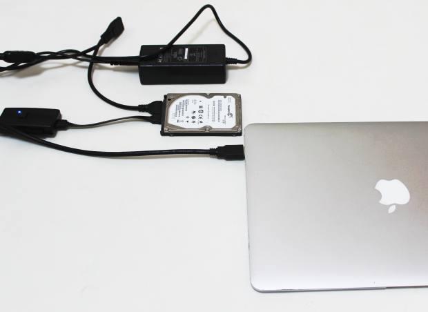 ノートパソコンに接続