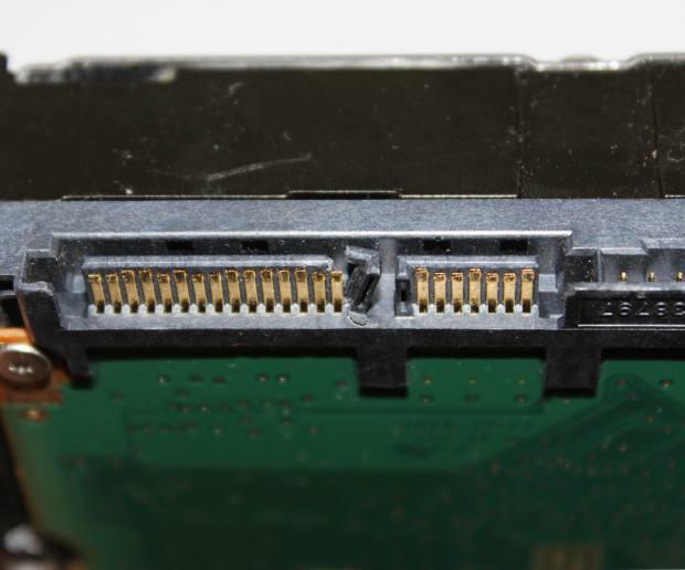 ハードディスクの差込口